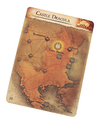 a card with a map and the words 'Castle Dracula'