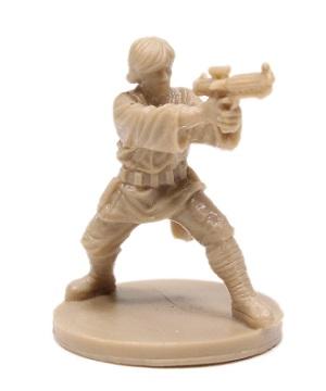 closeup of the tan Luke Skywalker miniature from Imperial Assault board game