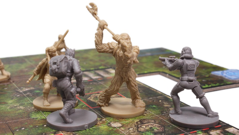 Imperial Assault board game minature, Chewbacca, stormtrooper and Greedo