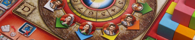 closeup of game board with players game pieces placed on board