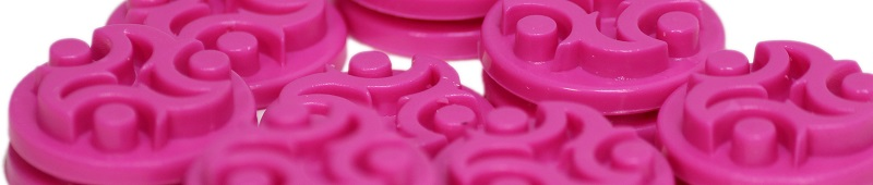 A cropped closeup of pink player control markers.
