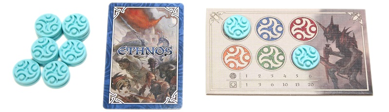 An image of the player set up for a game of Ethnos.