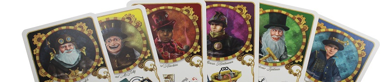 six game cards featuring game characters, each with a different colored background