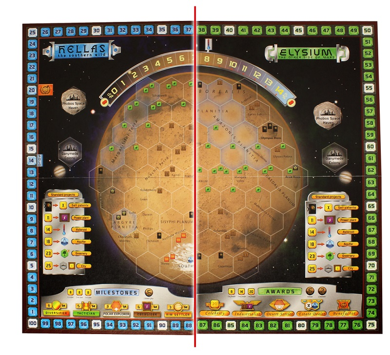 Terraforming Mars: as & Elysium Expansion on borealis basin on mars, detailed map of mars, map of a trip to mars, political map of mars, map of mars space, map of mars land, modern map of mars, map of mars with water, terraforming of mars,