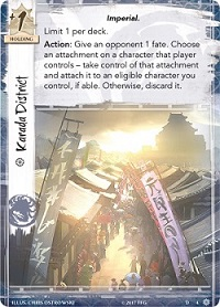 Closeup of an 'Imperial' card from the game