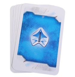 Image of a stack of cards with a blue back from the game Cry Havoc Aftermath.