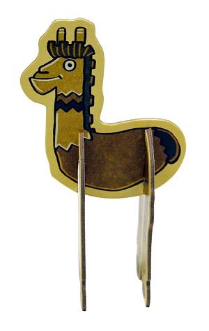Standing punchboard alpaca component