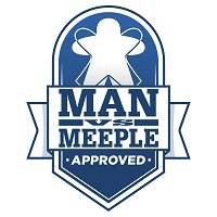Man vs Meeple Approved logo