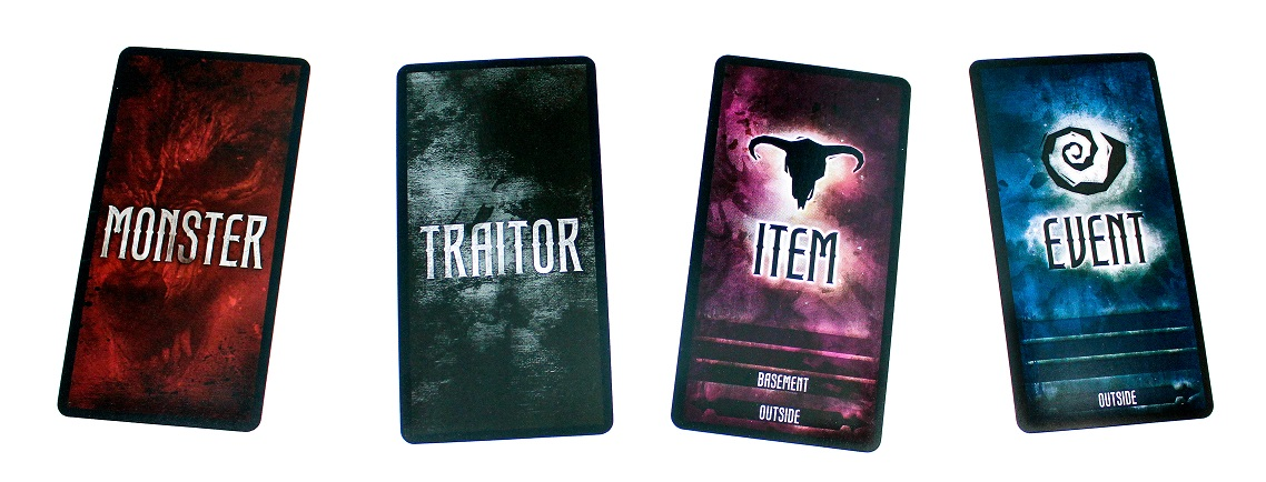 Monster, Traitor, Item and Event cards