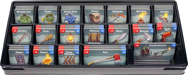 card organizer, with all the cards tucked into their own space