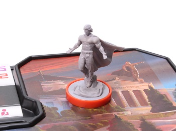 Steelheart unpainted plastic character miniature on game board