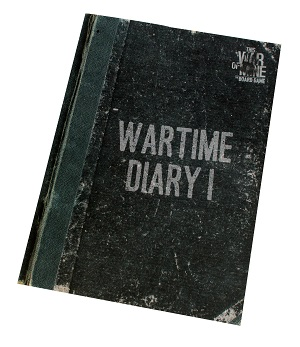 Wartime Diary 1 black booklet