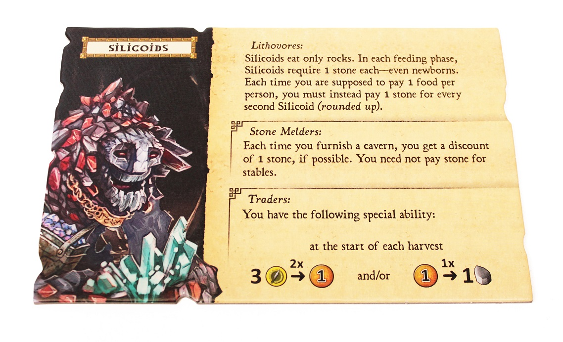 closeup of Silicoids game card