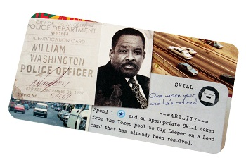 An image of the character file for William Washington, a character in the Detective LA Crimes Expansion.