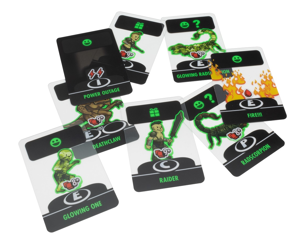 A spread of semi-transparent cards featuring various creature and humanoid figures.