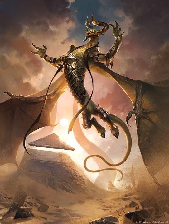 Bird Hydra Mage Fantasy Art