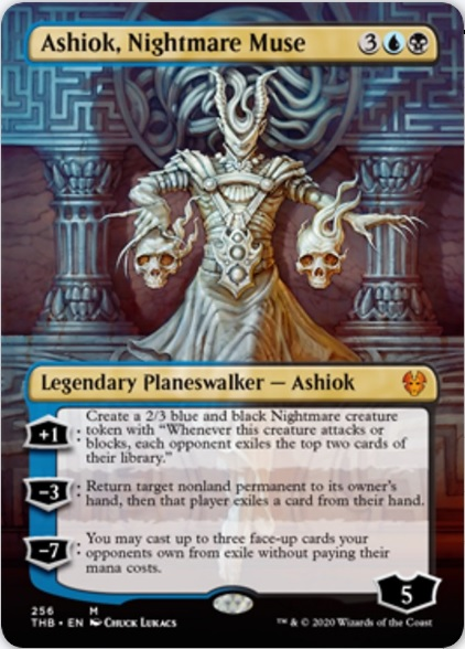 An image of the Magic card Ashiok, Nightmare Muse with extended alternate art.